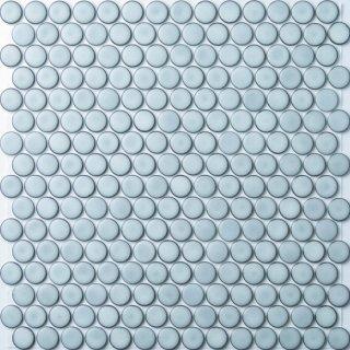 【サンプル請求】19mm丸 ノーブルホワイトタイル 15シート入 オリジナルタイル通販のタイルメイド