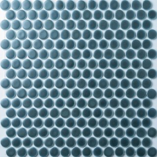 【サンプル請求】19mm丸 メタルブルータイル 15シート入 オリジナルタイル通販のタイルメイド