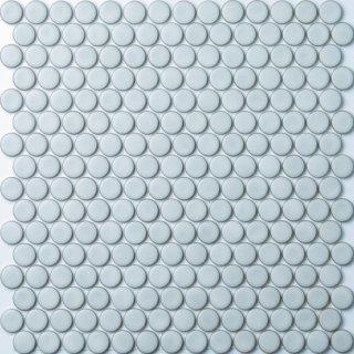 【サンプル請求】19mm丸 グレーホワイトタイル 15シート入 オリジナルタイル通販のタイルメイド