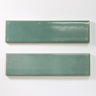 【サンプル請求】焼き物の風合いむらタイル 緑むらタイル 二丁掛(ケース) オリジナルタイル通販のタイルメイド