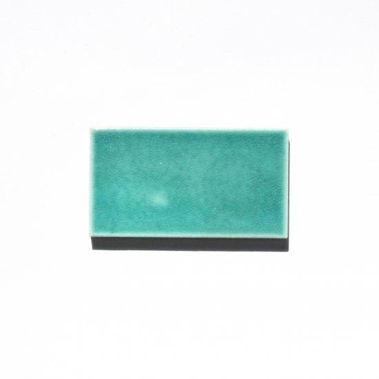 オリジナルタイル通販のタイルメイド 光と溶け合うクラックタイル エメラルドグリーン 小口(ケース)