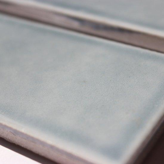 オリジナルタイル通販のタイルメイド 欧米風ふんわりタイルブルーグレー  二丁掛(ケース)
