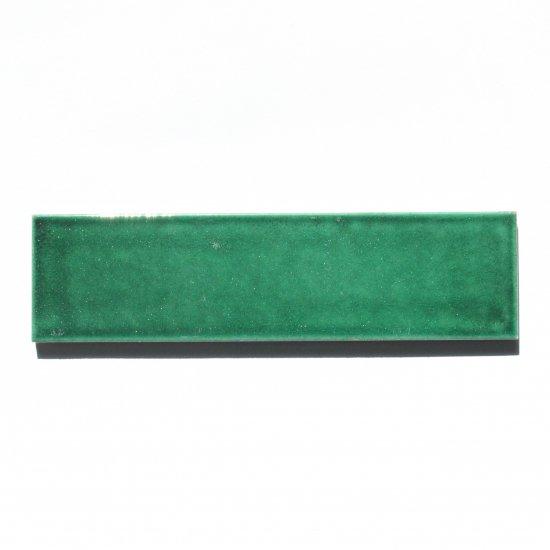 オリジナルタイル通販のタイルメイド 光と溶け合う クラックタイル ディープグリーン 二丁掛(ケース)
