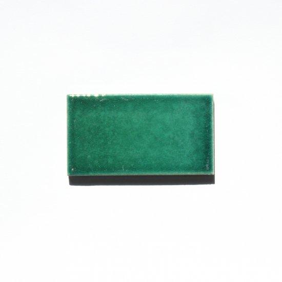 オリジナルタイル通販のタイルメイド 光と溶け合う クラックタイル ディープグリーン 小口(ケース)