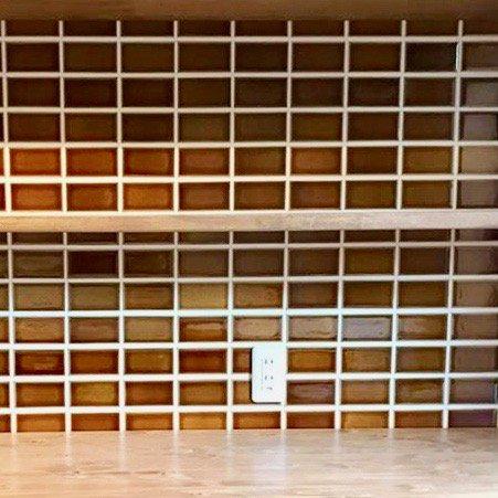 オリジナルタイル通販のタイルメイド 欧米風ふんわりタイル ゴールドオーカー  二丁掛(ケース)