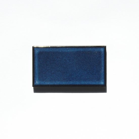 オリジナルタイル通販のタイルメイド レトロタイル 深青むら 小口(ケース)