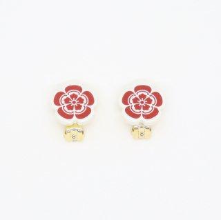 織田信長イヤリング(赤)|オリジナルタイル通販のタイルメイド