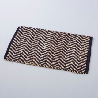 Hemp Cotton Herringbone Rug  80×50cm