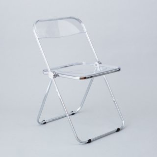 Plia Chair (Clear / Chrome)