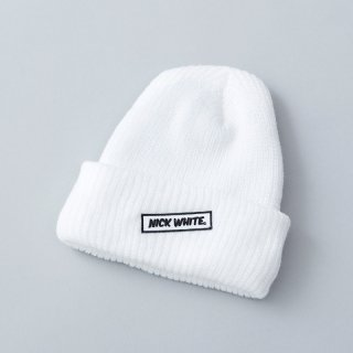 """NICK WHITE"" Original  Beanie 2 (White)"