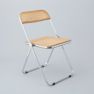"Vintage ""Plia Chair""<br>(Rattan Webbing / Chrome)"