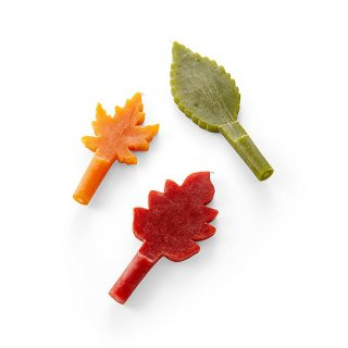 Harvest Leaf Shaped Candles set of 3