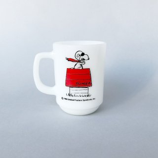 "Fire-King Mug ""Snoopy Red Baron"""