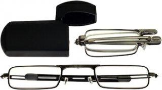 三脚 / カメラアダプター ミニフォールド 老眼鏡/シニアグラス 角型ブラック