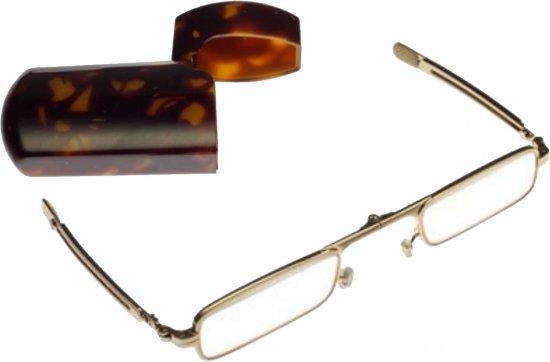 ミニフォールド 老眼鏡/シニアグラス 角型ゴールド【画像2】