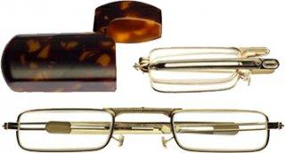 三脚 / カメラアダプター ミニフォールド 老眼鏡/シニアグラス 角型ゴールド