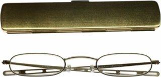 三脚 / カメラアダプター スレンダーアイズ 老眼鏡/シニアグラス 丸型ゴールド