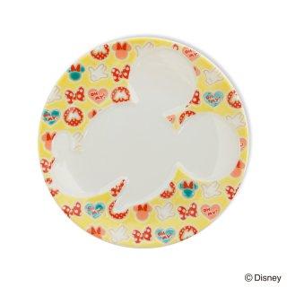 ミッキーマウス/プレート 小紋 黄