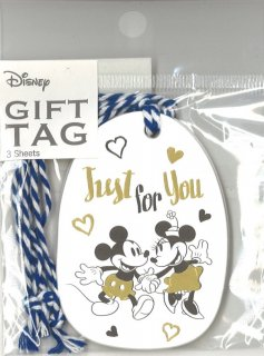 DISNEY ディズニー ギフトタグ Just for you 3枚入り