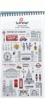 ミニスケッチシール トラベル LONDON ロンドン観光