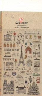 ミニスケッチシール トラベル PARIS パリ観光