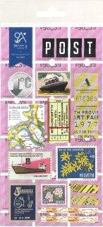 ミニスケッチシール トラベル 船旅 切手 Post