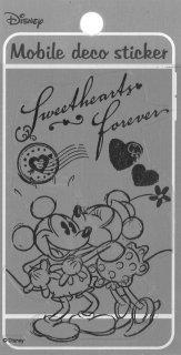 DISNEY ディズニー 貼って剥がせるモバイルデコステッカー ミッキーミニー