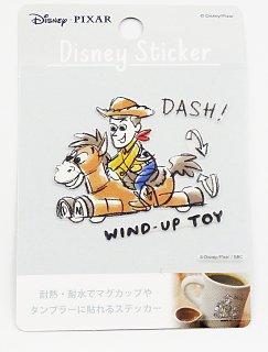 DISNEY ディズニー 耐熱耐水ステッカー トイストーリー ウッディ