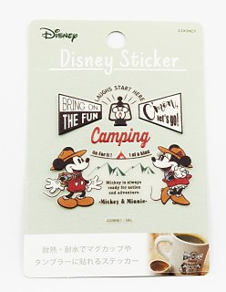 DISNEY ディズニー 耐熱耐水ステッカー キャンプミッキー