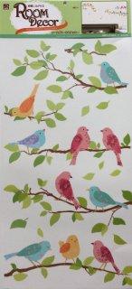 大きなサイズ 壁に貼って剥がせる デコウォールステッカー 鳥