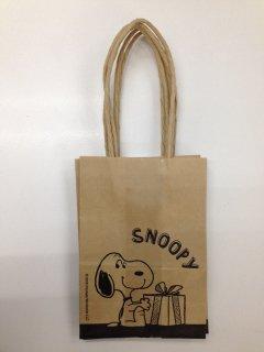 PEANUTS SNOOPY スヌーピー 手提げ付きギフト用クラフトバッグ プレゼント
