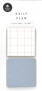 プランデコジャーナルで使える デイリープランステッカー 正方形 2色 付箋 各50シート