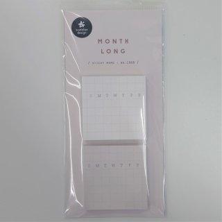 プランデコジャーナルで使える デイリープランステッカー 正方形 曜日マーク入り 付箋 白/ピンク 各50シート