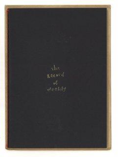 プランデコジャーナル ウィークリーノート 黒表紙金箔入り 48ページ