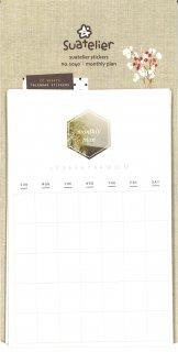 プランデコジャーナルで使える マンスリープランシート フリーカレンダーステッカー ネイチャー各月分12柄 計12シート