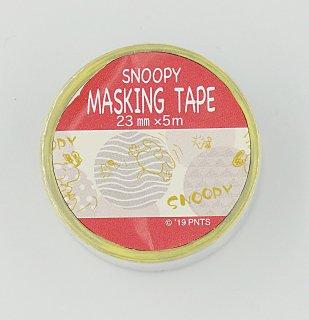 PEANUTS SNOOPY スヌーピー マスキングテープ 和柄 金箔入り 長さ5m てまり文様
