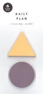 プランデコジャーナル用 付箋シール 三角・丸型二色 各型50枚入り デイリープラン13