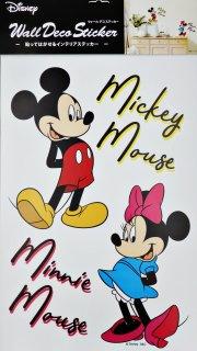 貼って剥がせるウォールステッカー DISNEY ディズニー ミッキー&ミニー