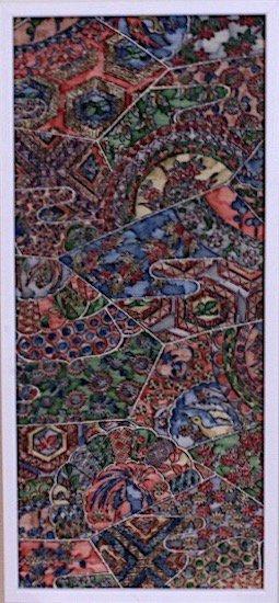 古布着物「鳥と花」ファブリックプレート