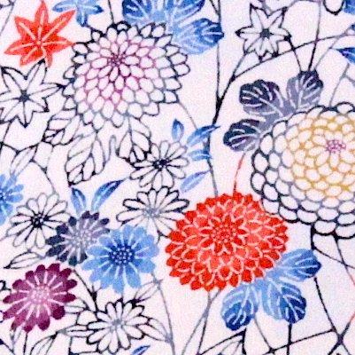 古布着物「菊模様」ファブリックプレート