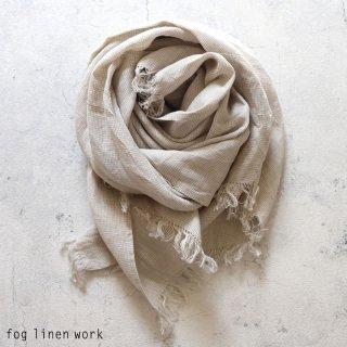 fog linen work(フォグリネンワーク) ロセリエ スカーフ コリン / ROSERIE SCARF リトアニア リネン LWS230-NACHE