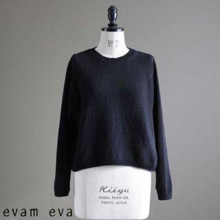 evam eva(エヴァム エヴァ)【2019ss新作】 コットンコイル プルオーバー ブラック / cotton coil pullover  E191K049