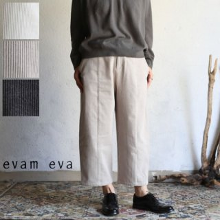evam eva(エヴァム エヴァ)  コーデュロイ クロップド パンツ 全3色 2サイズ / corduroy cropped pants E183T185
