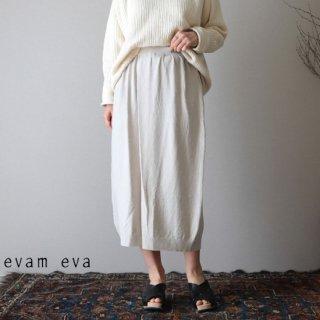 evam eva(エヴァム エヴァ)【2019ss新作】 ダブルカバーリング タックスカート アイボリー / double covering tuck skirt E191K098