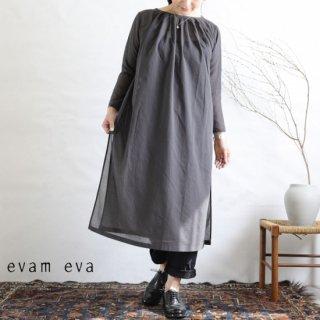 evam eva(エヴァム エヴァ)【2019ss新作】 タックロングワンピース ストーングレー / tuck long one-piece  E191T080