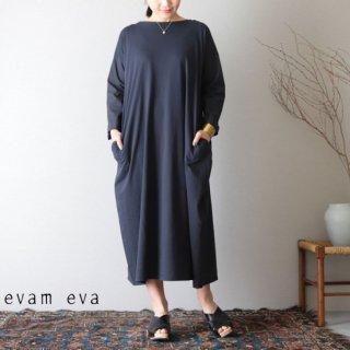 evam eva(エヴァム エヴァ) カットソー クロス ロングワンピース ノースシー / cut&sew cloth long one-piece E191C112