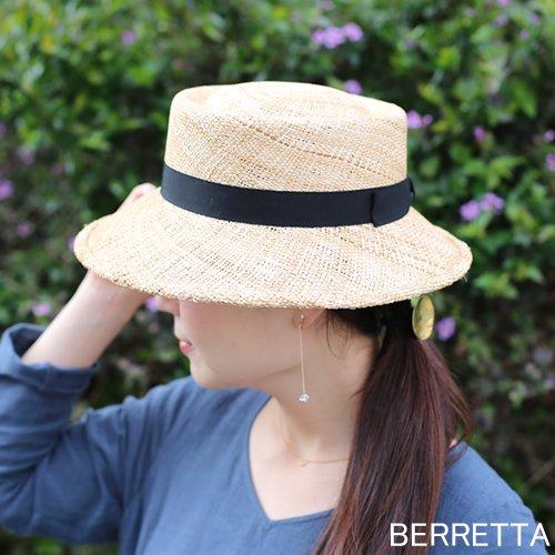 BERRETTA(ベルレッタ) マープルミディアムブリム 黒リボン 2サイズ(S、M) / バオ 箱付き