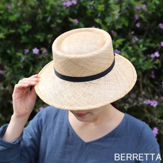 BERRETTA(ベルレッタ) マープルミディアムブリム 黒テープ 2サイズ(S、M) / バオ 箱付き