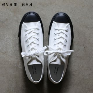 evam eva(エヴァム エヴァ) キャンバススニーカー ホワイト×ブラック / canvas sneaker white×black E183Z070