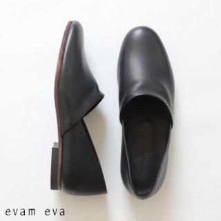 evam eva(エヴァム エヴァ)【2019ss新作】 レザースリッポン ブラック / leather slipon  black  E191Z075